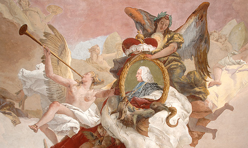 "Picture: Ceiling fresco ""The continent of Europe"""