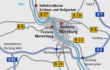Picture: Location of the Würzburg Residence
